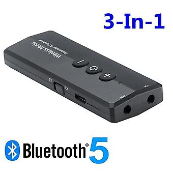 3 In 1 Bluetooth 5.0 4.2 Audio Receiver Transmitter - 3.5mm 3.5 Aux Jack Usb Wireless Adapters For Car Tv  (bluetooth V5.0)