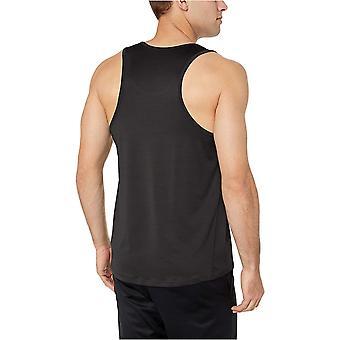 Essentials Men's Tech Stretch Performance Tank Top Shirt, Black, Small