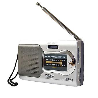 Battery Powered Ourtdoor Portable Am/fm- Telescopic Antenna Radio Pocket Stereo Receiver For The Elderly