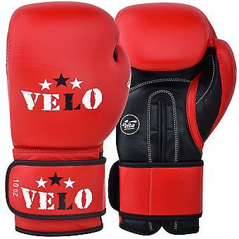 VELO Aiba Boxing Gloves Red