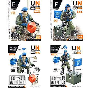 Figurer Byggesteiner, Mini Soldier Set -un Peacekeeping Force Leketøy