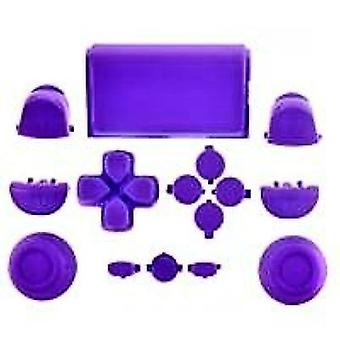Full button set for ps4 sony controller mod kit 1st gen triggers, thumbsticks, d-pad replacement - purple | zedlabz