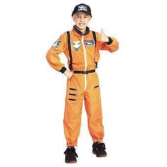 Astronaut kosmonaut Spaceman NASA oranje pak uniforme jongens kostuum
