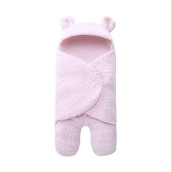 طفل حديث الولادة صبي / فتاة Swaddle- النوم التفاف أفخم القطن ملابس النوم بطانية دعم الصورة