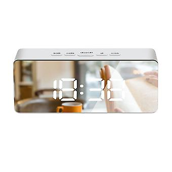 TS-S69-W LED Multifunktionale rechteckige Spiegeluhr ABS Weißes Licht