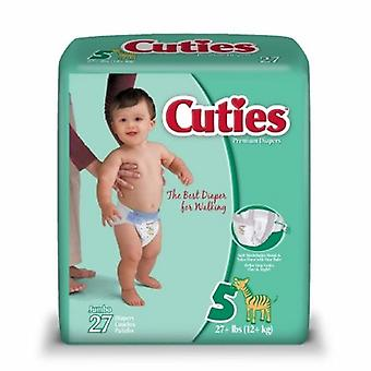 First Quality Unisex Baby Diaper, Size 5, Case of 108