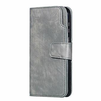 Plånboks fodral för Samsung Galaxy A8 Plus2018 Gray ruijianian-115