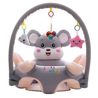 Baby plysch stol, tecknad lärande sitta, med stång