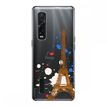 Hull For Oppo Find X2 Pro In Silicone Soft 1 Mm, Paris