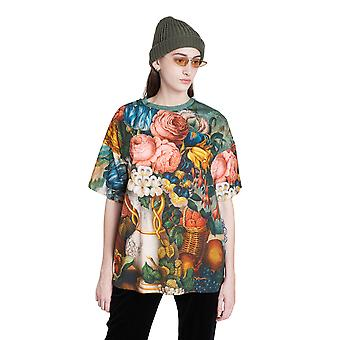 Desigual Soraia Oversized Watercolour Floral T-shirt 20WWTKBA
