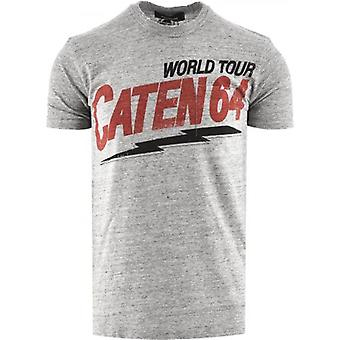 DSQUARED2 Caten 64 Grey Crew Neck T-Shirt