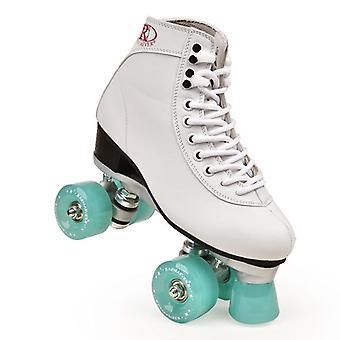 Women's Classic Retro 4 Wheels Quad Roller Skates Macaron Series Lake Green