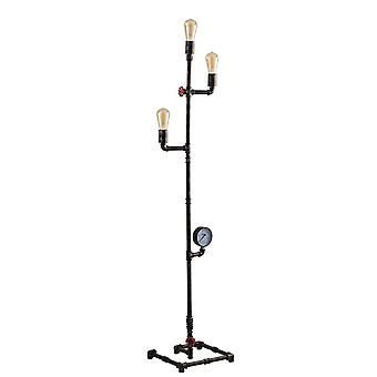 Fan Europe Amarcord - Pipe Effect Mutli Arm Floor Lamp, Rust, E27