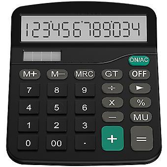 Helect calculator, standard function desktop calculator, black 1- black