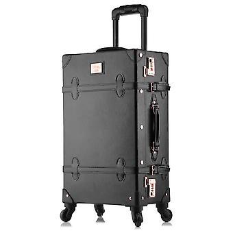 Carrylove Spinner Retro Walizka Zestaw Trolly Bag Vintage Zestaw bagażowy z kołami