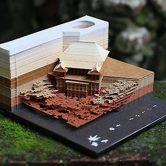 3D Värikäs Qingshui Temppeli Malli PaperiMerkki Muistio Muistio Muistilappu Kirjanmerkki Paperitavara Liiketoiminta Salaperäinen Lahja