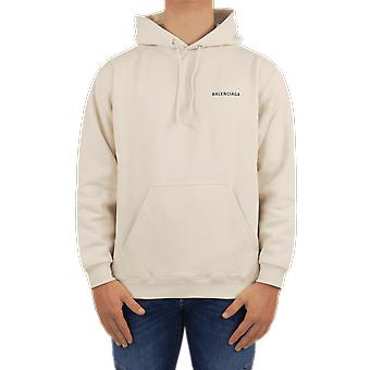 Balenciaga Medium Fit Hoodie Beige 600583TJVA89055 Top