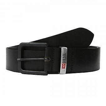 Diesel B-Castel Black Leather Belt X06378