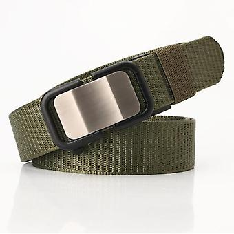 New Nylon Belt With Automatic Buckle, Men's Belt, Casual, Versatile Trousers, Trendy And Comfortable, 125cm Long