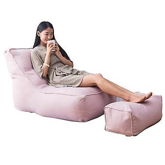 Lounger Seat Solid Protective Lazy Sofa Cover Pouf Bedroom Bean Bag Washable