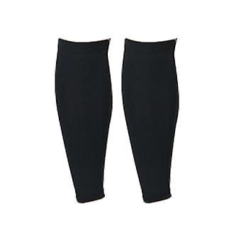Chaussettes élastiques de veau de compression pour les sports courant Shin Splint Black XL Taille
