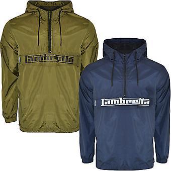 Lambretta Mens Overhead Halv Zip Retro Pullover Windbreaker Jacka Anorak Coat