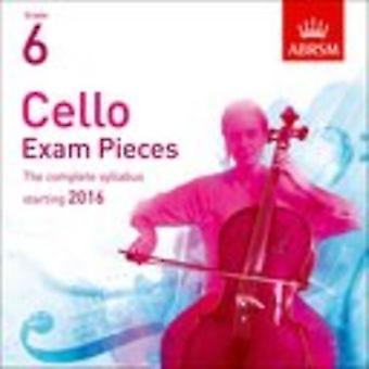 Cello Exam Pieces 2016 2 CD-cd, ABRSM årskurs 6