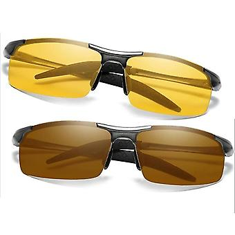 Polarized Men's Day & Night Vision Driving Sunglasses