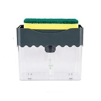 Manual Press Liquid Soap Dispenser With Washing Sponge