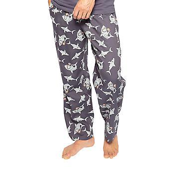 Cyberjammies Thomas 6553 Männer's Grau Hai Baumwolle Pyjama Hose