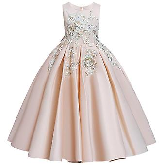 Lace Petal Communion Birthday Long Banquet Pageant Dresses For Wedding Party