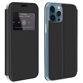 Case for Apple iPhone 12 Pro Max with Window and Card Holder - black