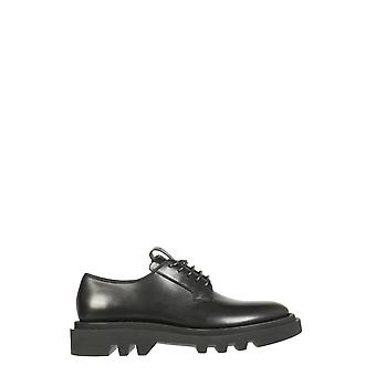 Givenchy Bh1031h0kf001 Heren's Black Leather Lace-up Schoenen