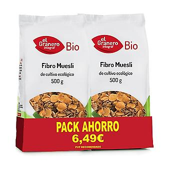 Fibro Muesli Bio Pack 2 units of 500g