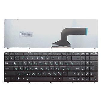 Musta kannettavan tietokoneen näppäimistö