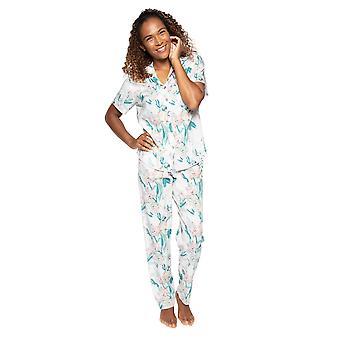 Cyberjammies Nora Rose Lucy 1511 Kvinnor's Rosa Mix Blommig Bomull Pyjama Set