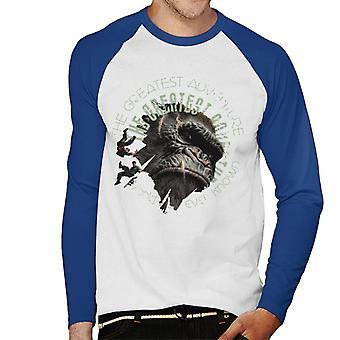 King Kong The Greatest Adventure Men's Baseball Long Sleeved T-Shirt