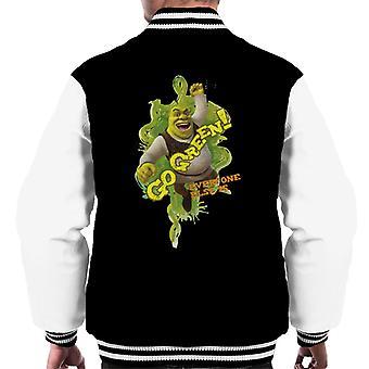 Shrek Go Green Iedereen Is Men's Varsity Jacket