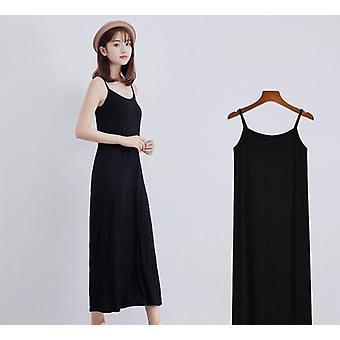 Frauen's Modal Full Slip Kleid Spaghetti Strap Weste Rock lange unter Kleid