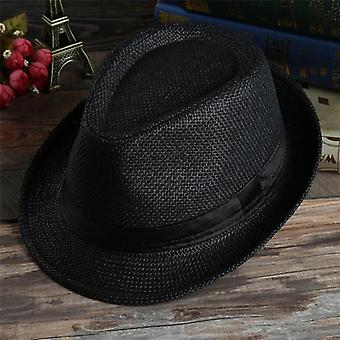 Western Straw Cowboy And Retro Casual Sun Hats,  Beach Breathable Cap Gorro