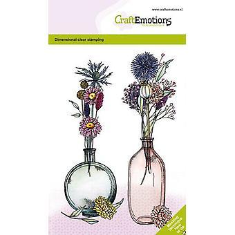 Käsityöläiset Clear Stamps A6 - Kuivatut kukat Maljakko 1 Gt Mittaleima
