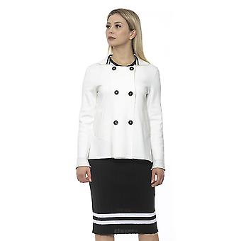 Alpha Studio Women's White Jacket