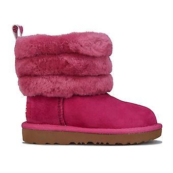Girl's Ugg Australia Junior Fluff Mini Quilted Boots en Rose