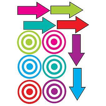 Die-Cut Magnetic Colorful Targets & Arrows, 12 Pièces