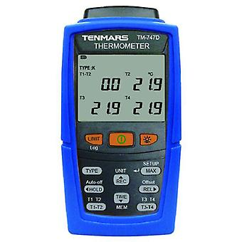 Tenmars  tm-747d 4-channel thermometer seven thermocouple type selections:k,j,t,e,r,s,n,usb pc serial interface:windows xp /7~10
