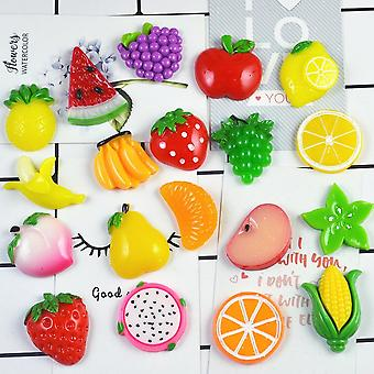 10pcs bunte Obst Charms Füllstoff Stress Relief Diy Polymer Addition Schleim
