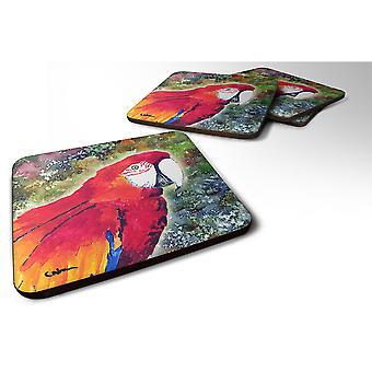 Caroline'S Treasures 8603Fc Parrot Foam Coasters (Set Of 4), 3.5 H X 3.5 W, Multicolor