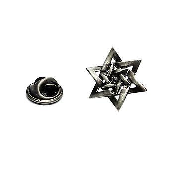Star of David Jewish Religion Pewter Lapel Pin