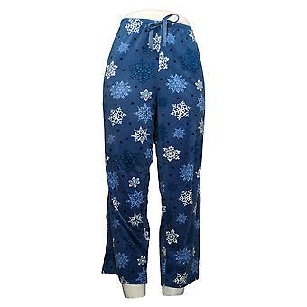 Carole Hochman Women's Petite Pajama Pants Snowflake Print Blue A368291