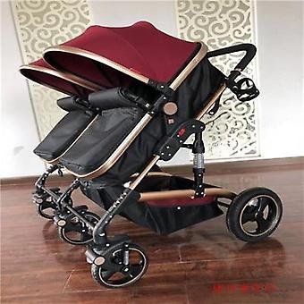 High Landscape Twin Stroller, Lightweight Folding